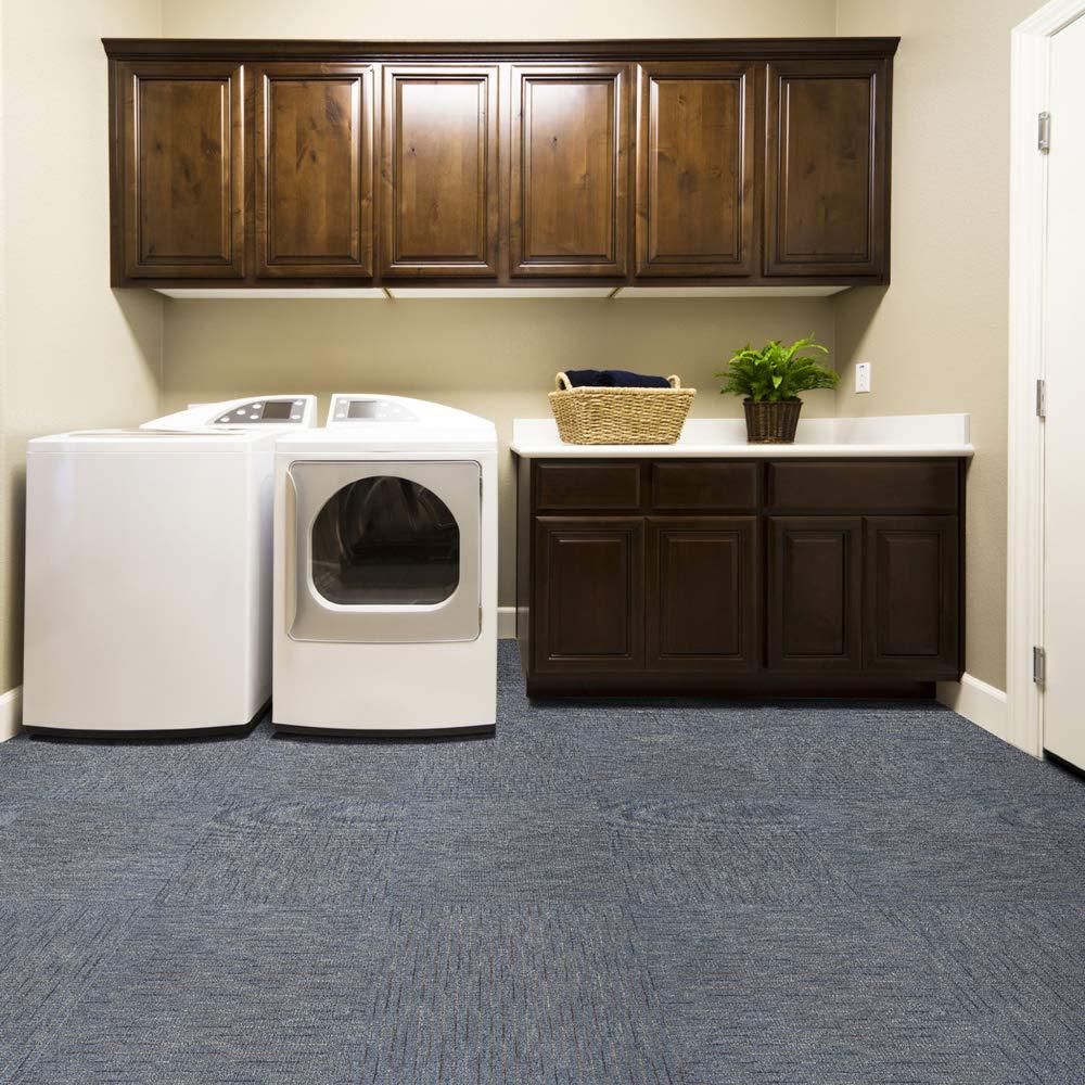 All American Carpet Tiles MAJESTIC 23.5 x 23.5 Plush Easy To Install Do It Yourself Peel And Stick Carpet Tile Squares 34.52 Square Feet Per Carton 9 Tiles Per Carton Wavelength