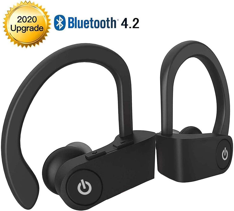Auriculares inalámbricos Bluetooth,Auriculares intrauditivos Auriculares Deportivos HiFi Bass Stereo,IPX5 Impermeable,Anti Sudor,Cancelación de Ruido,con micrófono,para iPhone Android Apple AirPods