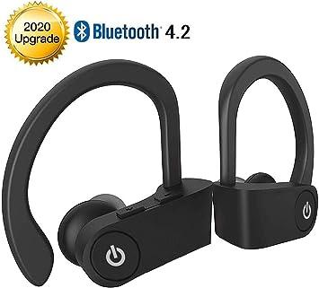 Auriculares inalámbricos Bluetooth,Auriculares intrauditivos Auriculares Deportivos HiFi Bass Stereo,IPX5 Impermeable,Anti Sudor,Cancelación de Ruido,con micrófono,para iPhone Android Apple AirPods: Amazon.es: Electrónica