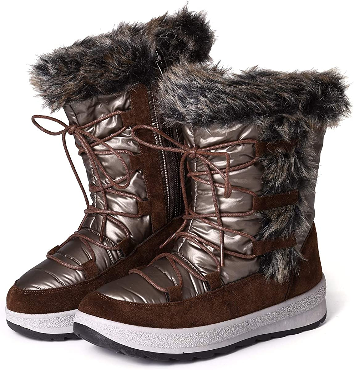 Camfosy Ankle Snow Boots for Women