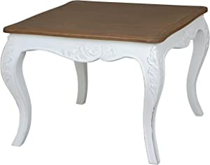 International Caravan End Table in Antique White Finish