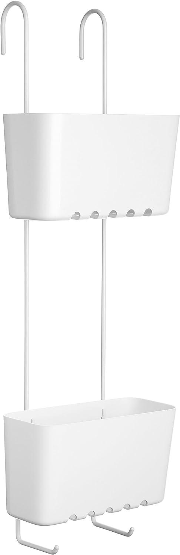 Blanco 20 x 13 x 59 cm Tatay 4522101 Standard Duo Cesta organizadora de Ducha o ba/ñera con Dos baldas Apta para Todo Tipo de mamparas