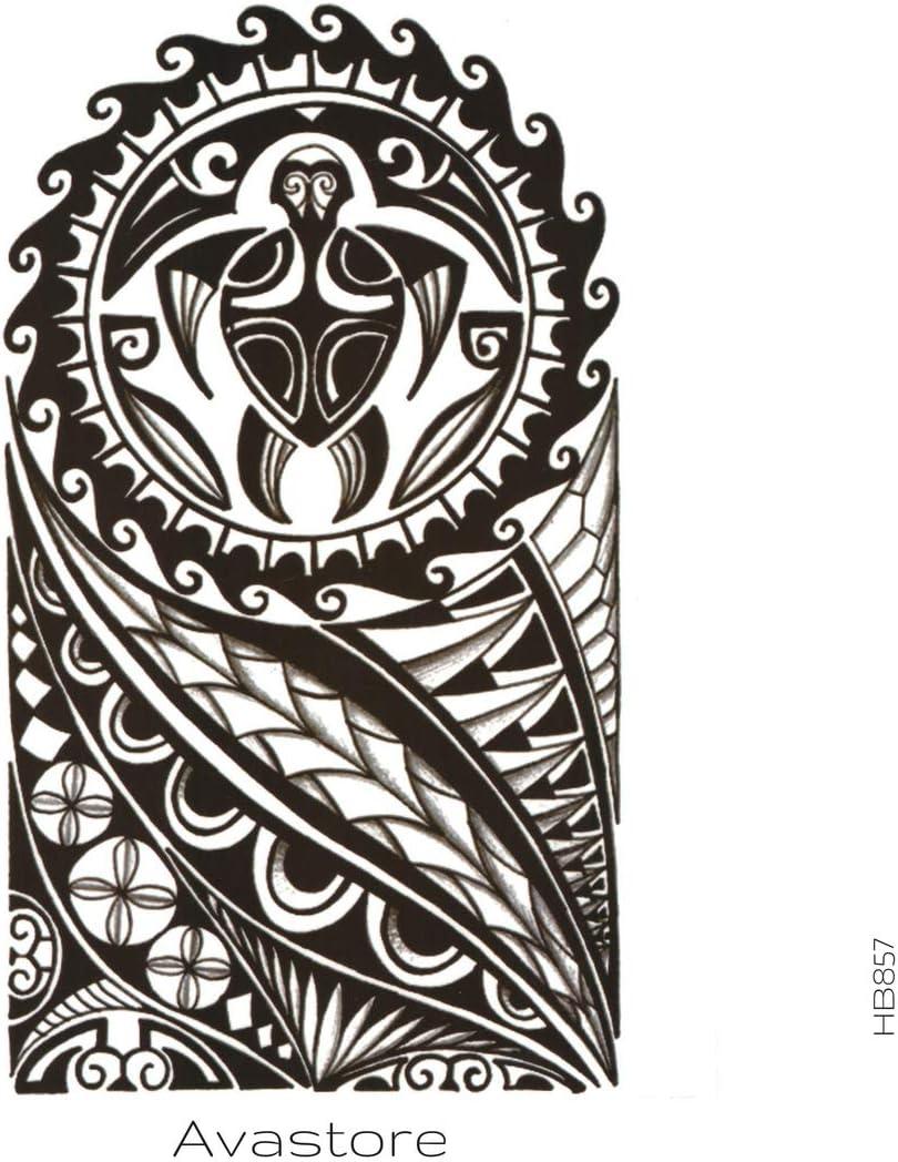Tatuaje Temporal Maori polynésien tatuaje efímero Maori polynésien ...