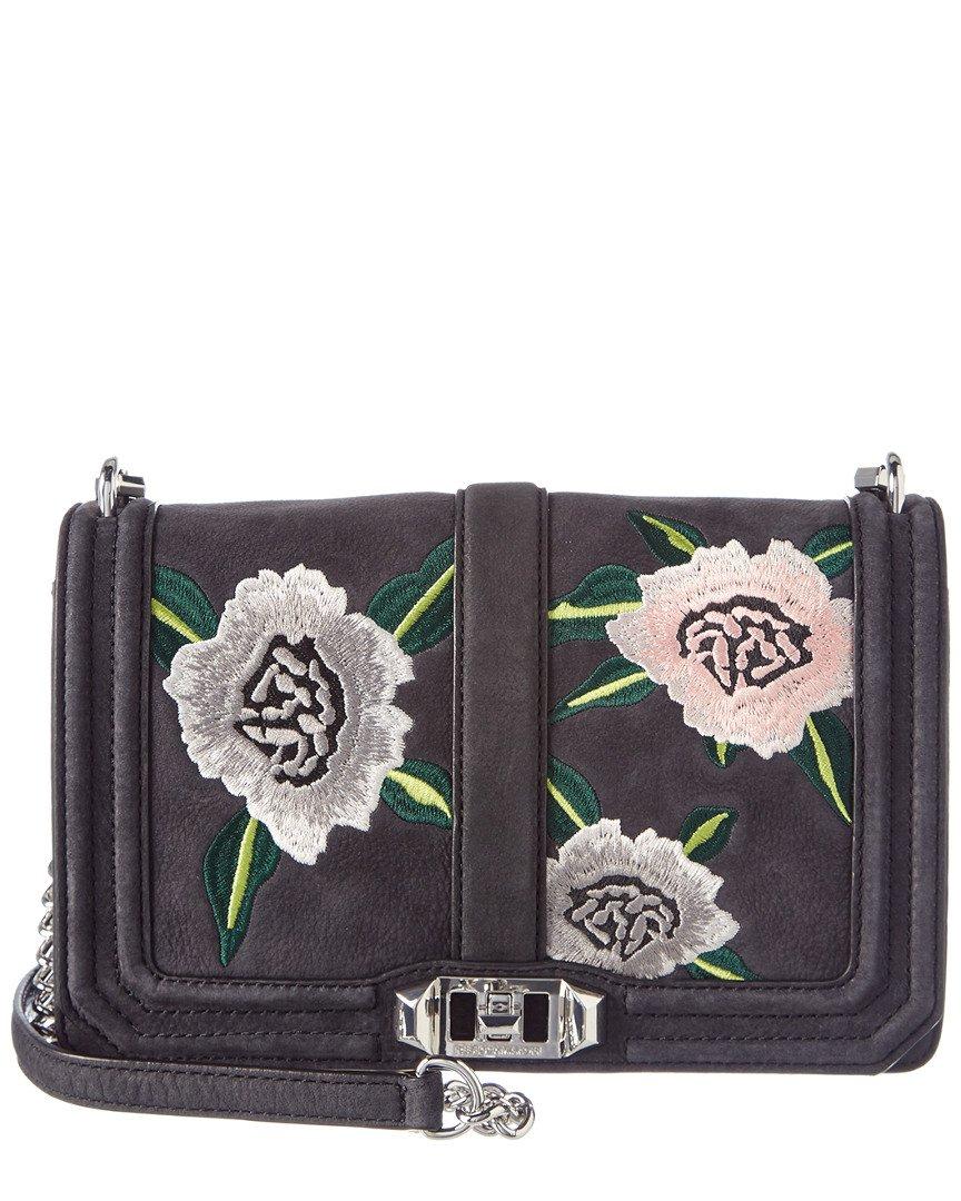 Rebecca Minkoff Women's Love Cross Body Bag, Black Embellished, One Size