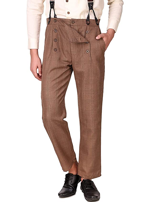 Men's Vintage Pants, Trousers, Jeans, Overalls ThePirateDressing Steampunk Victorian Cosplay Costume Architect Mens Pants Trousers $38.95 AT vintagedancer.com