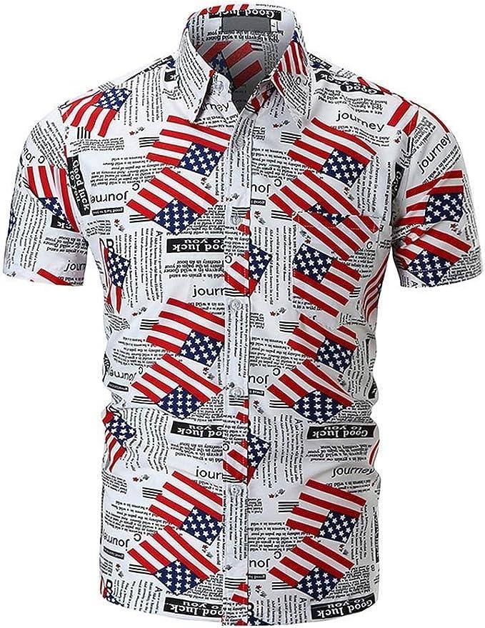 Mens Mens Mens Polo Shirts Button Shirt Short Sleeve Printed ...