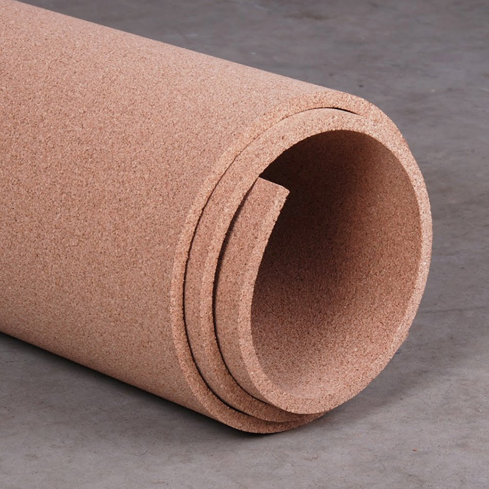 Manton Cork Roll, 100% Natural, 4' x 6' x 1/2'' - Thickest available