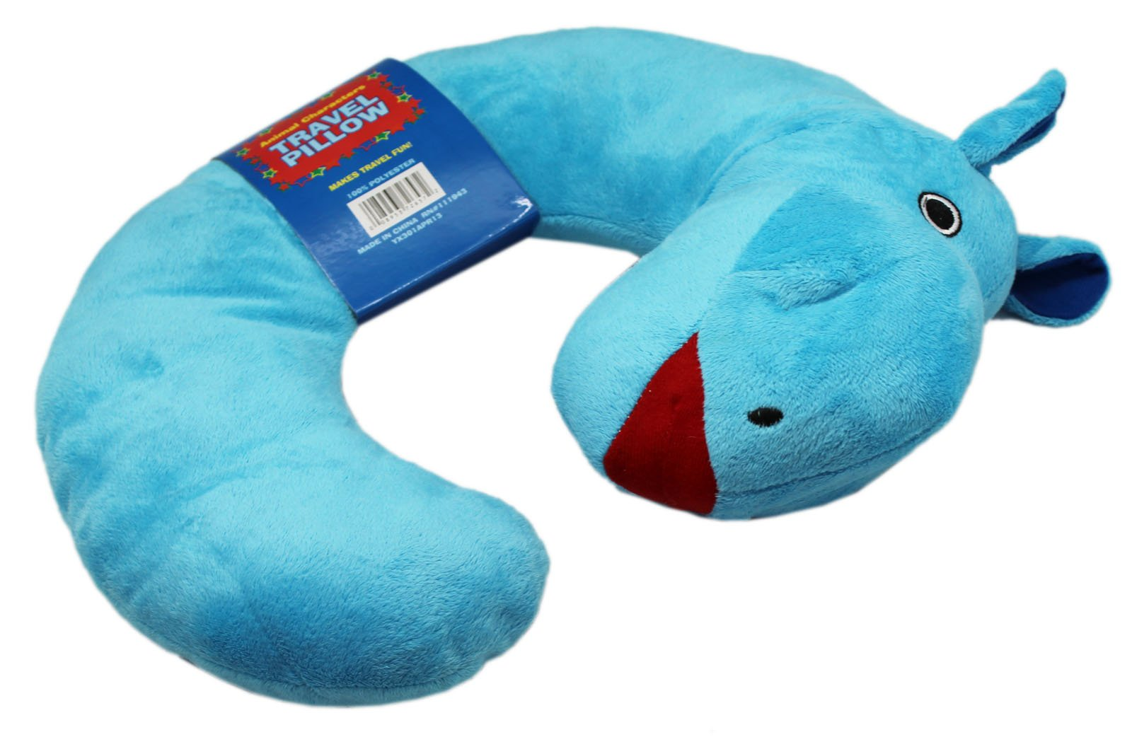 Northpoint Animal Characters Travel Pillow (Blue Hippo)