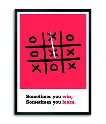Amazon Sometimes You Win And Learn Life Motivating Quotes Stunning Posters With Quotes On Life