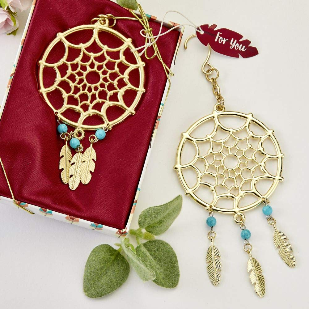 72 Gold Dream Catcher Themed Hanging Ornaments
