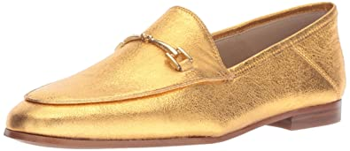ff5d86a87796cd Sam Edelman Women s Loraine Loafer Exotic Gold Metallic Leather 5 M US