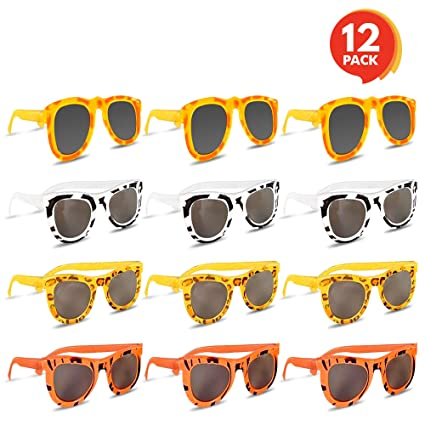 96fa5ce494 Amazon.com  Colorful Safari Sunglasses (Pack of 12) by ArtCreativity ...