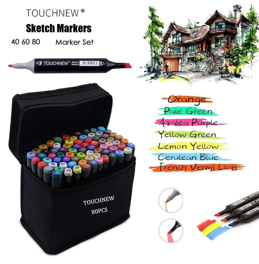 per evidenziatori artistici 80 TOUCHNEW 80 Set di pennarelli colorati Manga Graffiti con punta doppia