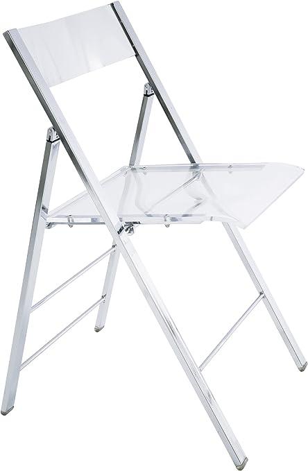 Kare 8312 - Silla Plegable de Fibra acrílica, Transparente: Amazon.es: Hogar