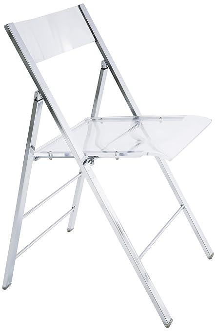 Ordinaire KARE 8312 Folding Chair Retro Acrylic Transparent
