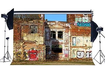 Amazoncom Gladbuy Graffiti Backdrop 9x6ft Vinyl 80s Hip Hop