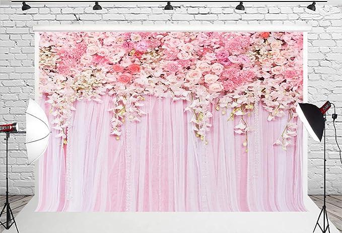 Muzi D 9354 Fotohintergrund Mit Rosa Blumen Für Kamera