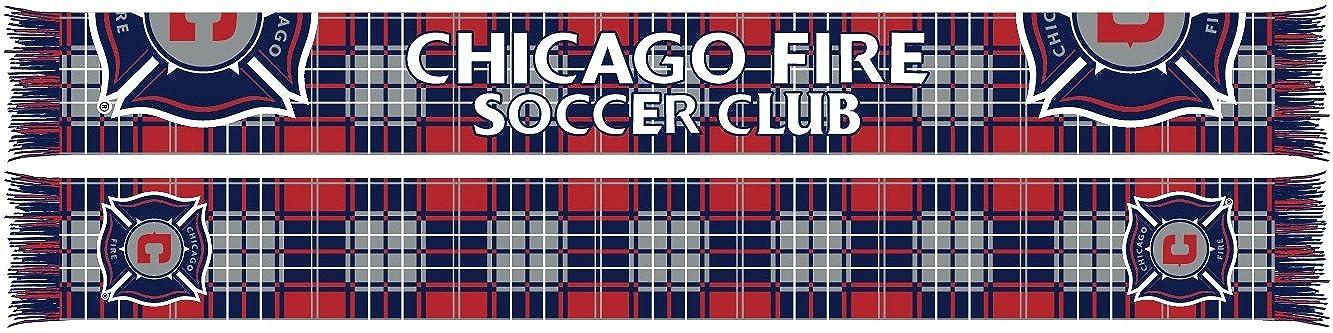 Chicago Fire Tartan Split Crest Scarf