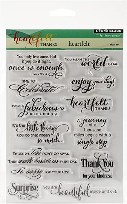 Penny Black 30-350 N//A Clear Stamps 5-Inch X7-Inch-Sentiment Collection