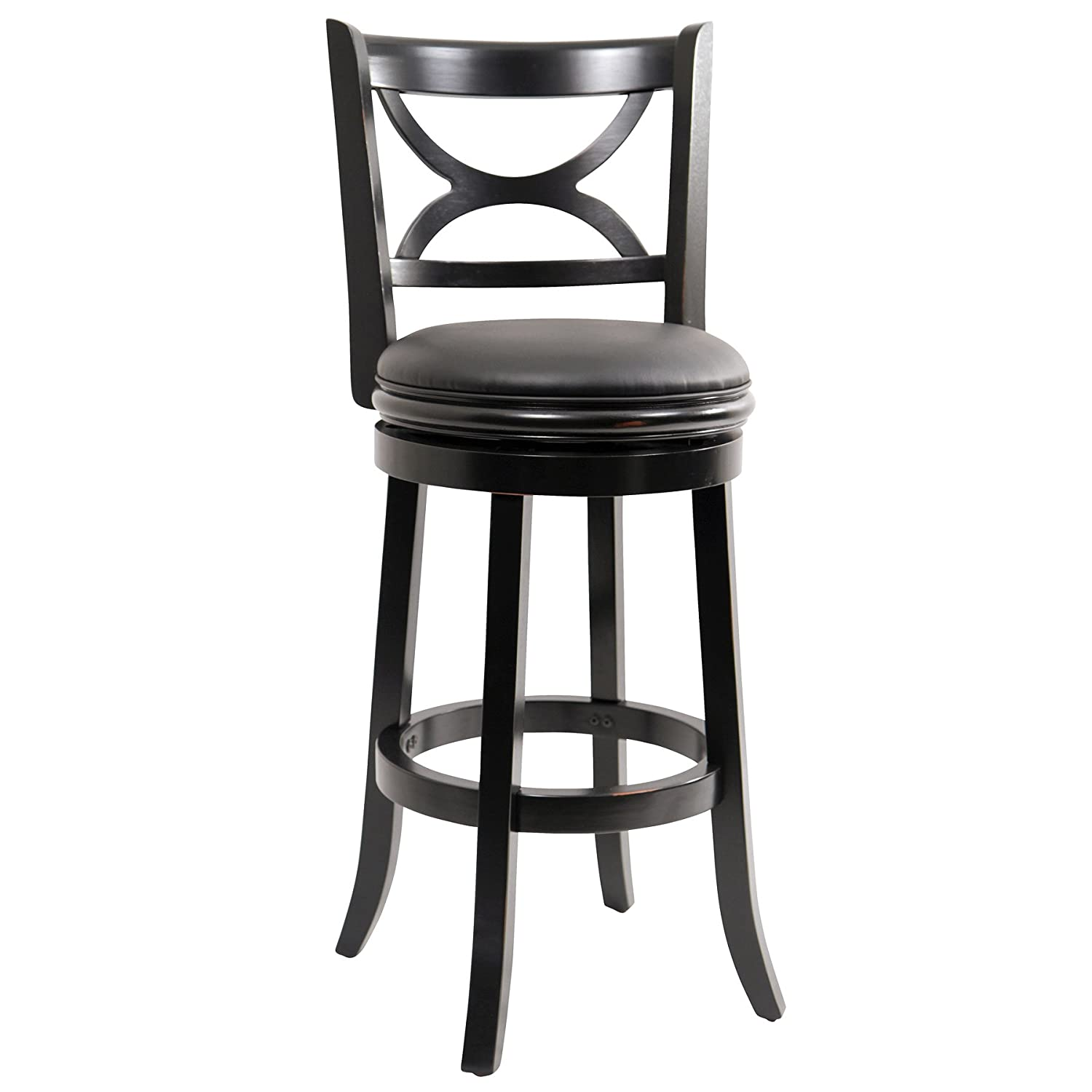 Amazon.com Boraam 45729 Florence Bar Height Swivel Stool 29-Inch Distressed Black Kitchen u0026 Dining  sc 1 st  Amazon.com : wooden swivel bar stool - islam-shia.org