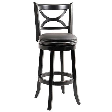 Wondrous Boraam 45729 Florence Bar Height Swivel Stool 29 Inch Distressed Black Creativecarmelina Interior Chair Design Creativecarmelinacom