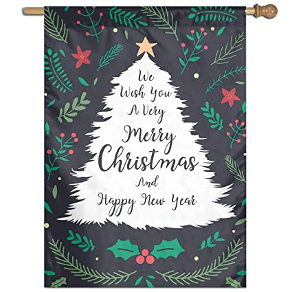 Amazon Com Moandji Garden Flag Christmas And New Year