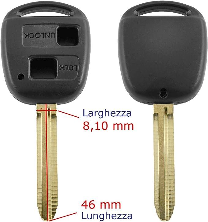 Gehäuse Für Funk Autoschlüssel Mit 2 Tasten Und Elektronik