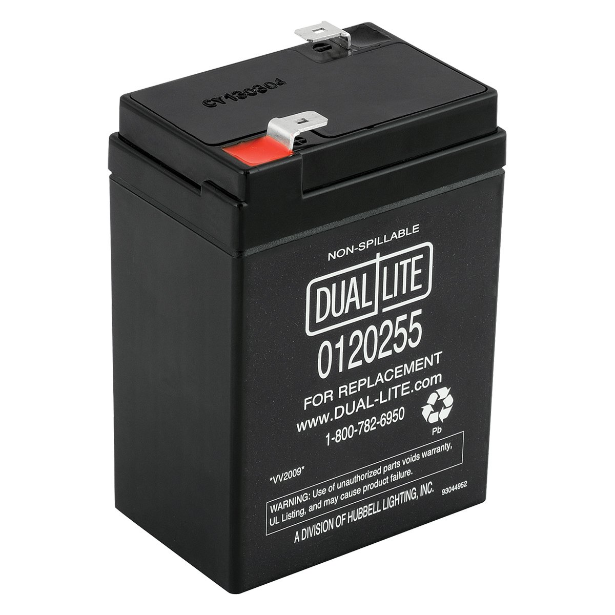 Dual-Lite 0120255 Approved 6-volt 4-4.5Ah 2.0-Amp for 90-Minute New SLA Battery