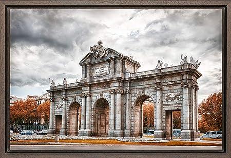 TEXFOTO Cuadro Enmarcado - Puerta de Alcalá - Madrid - Fotografía artística y Moderna Listo para Colgar - Hecho a Mano en España (40_x_60_cm): Amazon.es: Hogar