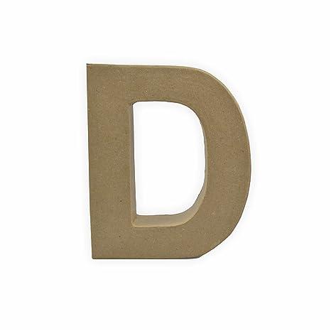 Cartón Letra – D de 10 x 3 cm para pintar y cristal