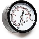 50mm Manomètre pression pour réservoir pump axial 12.9mm 0-12bar / 0-180PSI