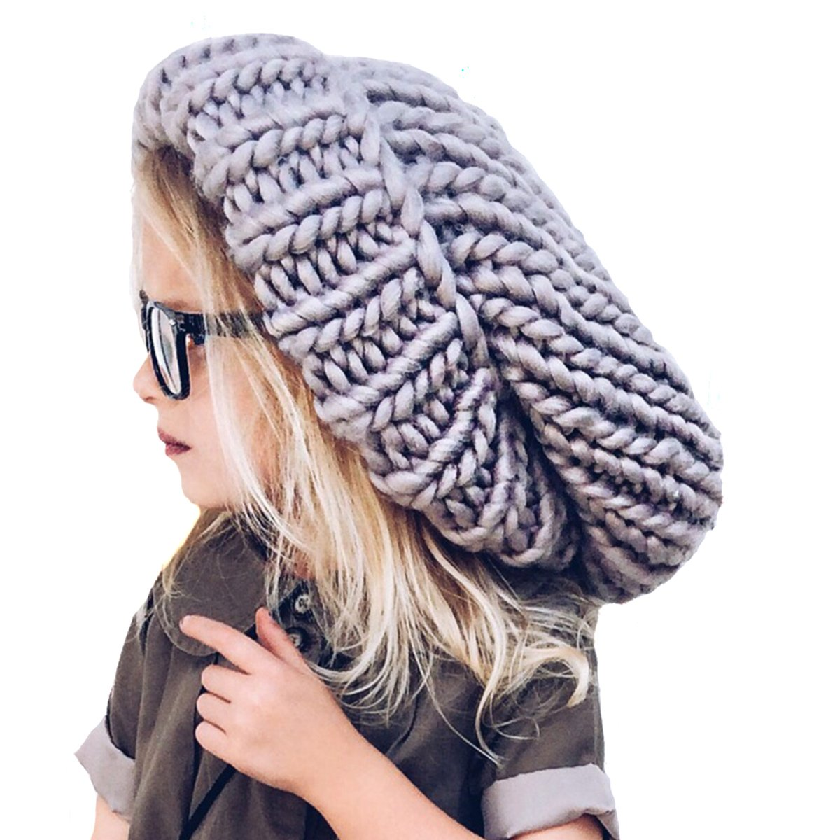 9472a15e949 SUPER FAST SHIPPING - HAND KNIT OVERSIZE SLOUCHY WINTER BEANIE HAT  Neon  Eaters has been a leader in funky knit hats since 2012. Their fun take on  boys ...