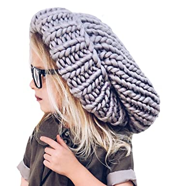 Neon Eaters Oversize Knit Slouchy Beanie - Gray - Chunky Large ... d0451560ca5
