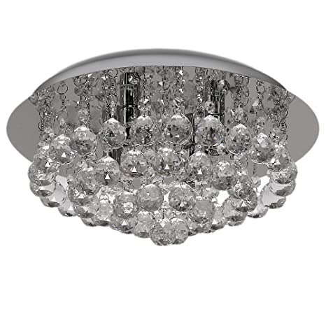 Buy discount4product modern round fixture ceiling light lighting discount4product modern round fixture ceiling light lighting crystal pendant chandelier 35 cm wide 3 warm aloadofball Gallery