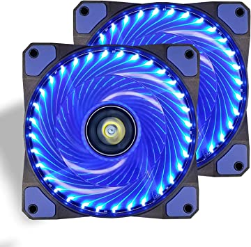 Ventilador de PC,CONISY 120 mm LED Gaming Ultra Silencioso ...
