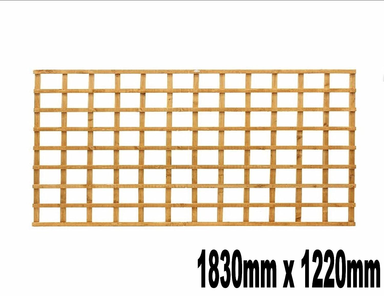 1830mm x 1220mm Garden Trellis Heavy Duty Treated Screen Square Pressure Treated Autumn Gold Innovo