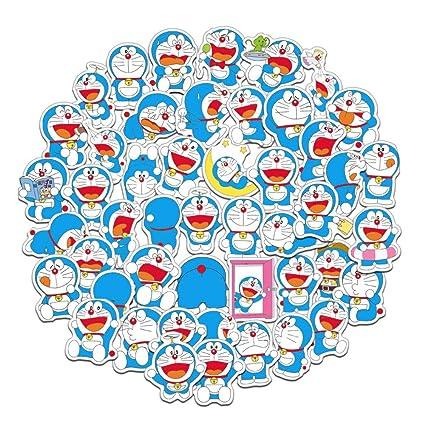 Amazon Com Dofe 61 Pcs Doraemon Stickers Laptop Stickers