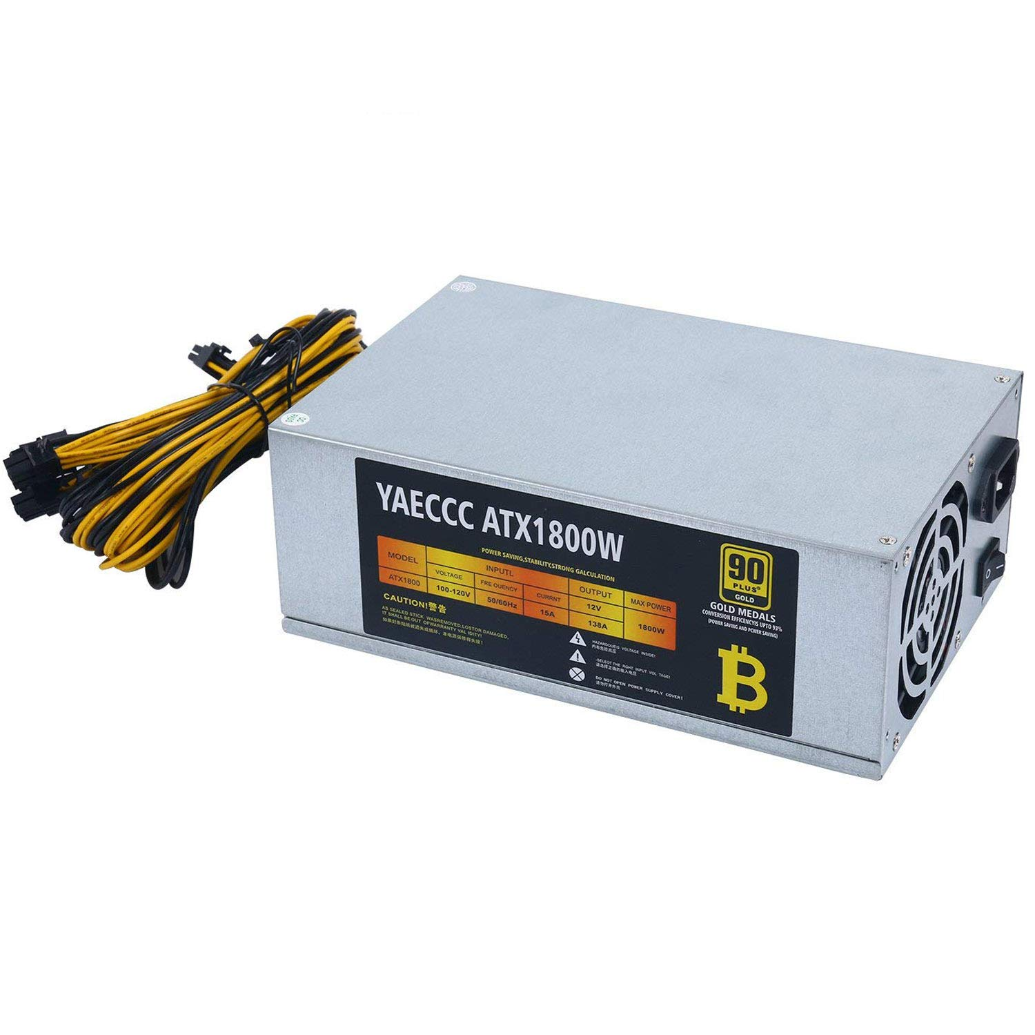 220V Miner Power Supply 1800W Power Supply 10x6 Pin Compatible with 6 GPU  Bitcoin Antminer S9 S7 L3+ D3 T9 E9 A4 A6 A7
