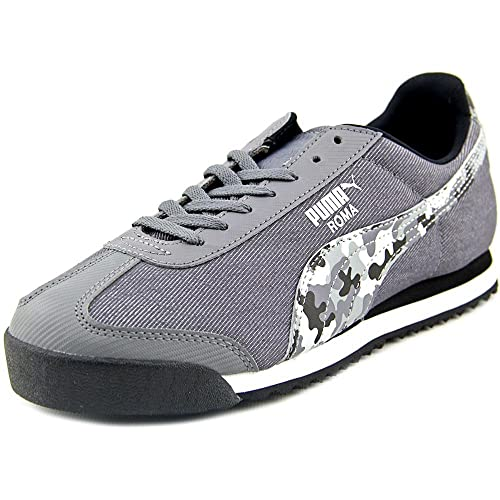 Puma Roma Denim Camo Jr. - Zapatillas de Running de Lona Niños, (Steel Gray-Black-White), 38.5 EU: Amazon.es: Zapatos y complementos