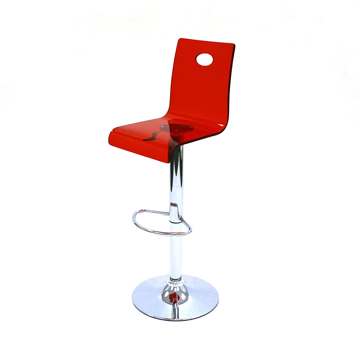 Acrylic Barstool Red Acrylic Gas Lift Bar Stools Kitchen Stools High Stools