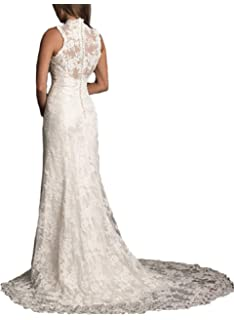 7ceea45dc3e Ellenhouse Women s 2019 Lace Long Vintage Country Style Bridal Wedding Dress