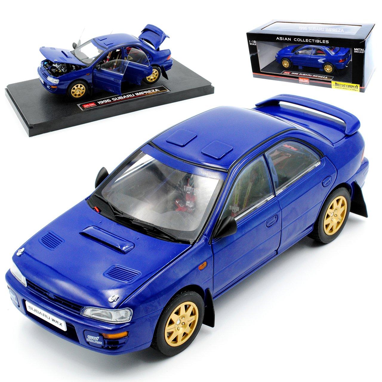 Sun Star Subaru Impreza 1/18 WRX STI Limousine Blau 1996 1/18 Impreza Modell Auto 219595