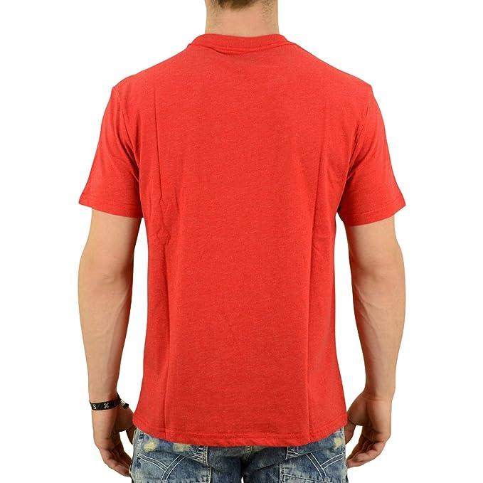 Converse T-Shirt Herren Plevated Monochrome rot meliert - fällt etwas  grösser aus: Amazon.de: Bekleidung
