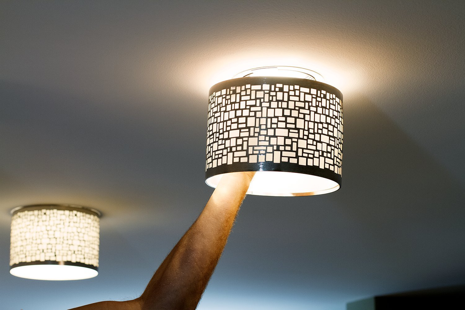 Buy Decorative Recessed Light Cover Ezclipse Cobblestone 2pc Bundle Recessed Light Shade 8 5 X6 Transform A Recessed Light Cover In 30 Seconds With No Expensive Renovations Chrome 2pc Online At Low Prices In