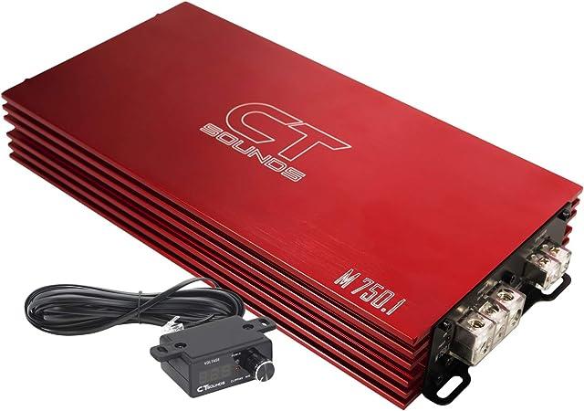 CT Sounds M-750.1D Limited Red Edition Class D Car Monoblock Amplifier