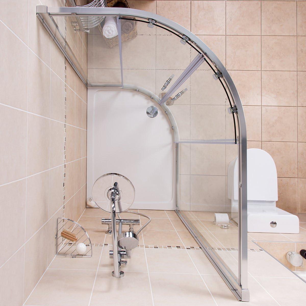 Nueva Funda derecha Mampara de ducha caja de piezas de baño + inodoro + lavabo: Amazon.es: Hogar