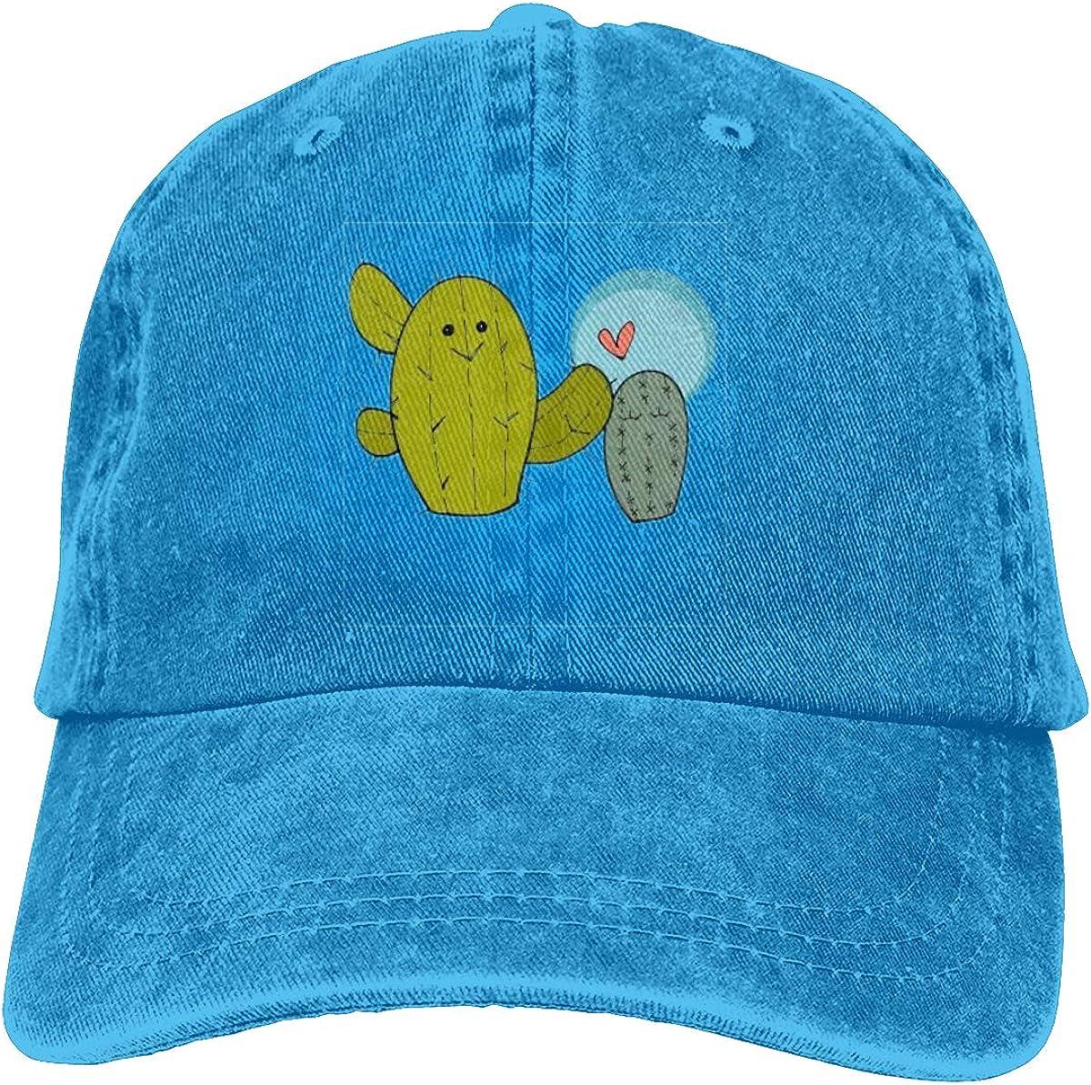 Cactus Puns are Succulent Unisex Baseball Cap Cotton Denim Amazing Adjustable Sun Hat for Men Women Youth Blue