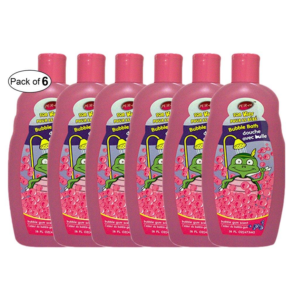 Purest Kids Bubble Bath With Bubble Gum Scent (473ml) (Pack of 6)