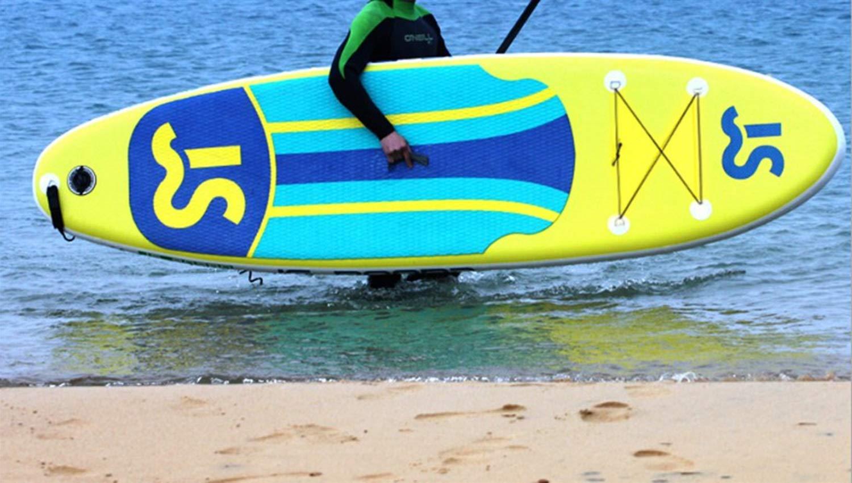 Jsqianchen 10.9 Tabla de Surf Inflable Soft Top Junta de Sup para Adultos El Paquete de la Tabla de Paleta Incluye artículos estándar (Color : Yellow, ...