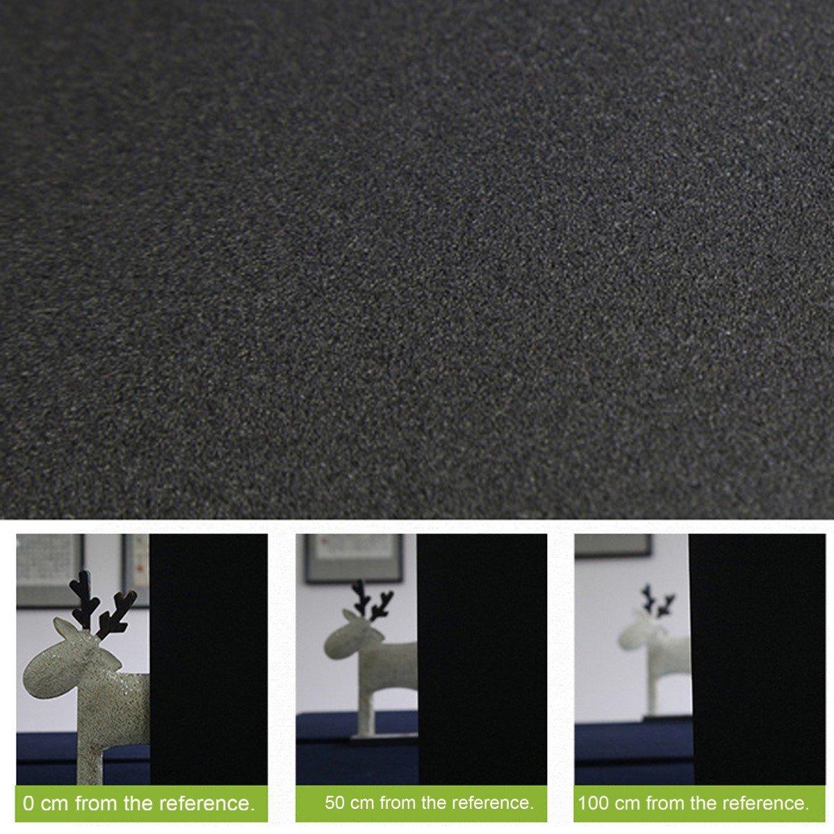 Noir RAIN QUEEN 1 Rouleau //45cm X 200cm Film Occultant D/écoratif Pour Surface Fen/être Vitrage Vitre Autocollant Imprim/é Imperm/éable